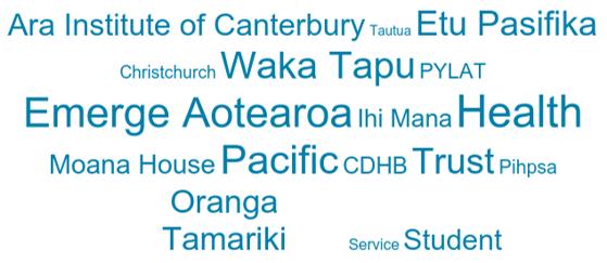 GPS Christchurch 2017 word cloud.